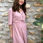 robe Emma twill viscose rose détail 4