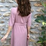 robe Emma twill viscose rose détail 3